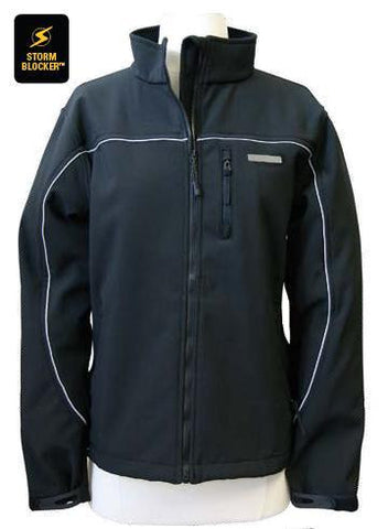 Womens black soft shell jacket
