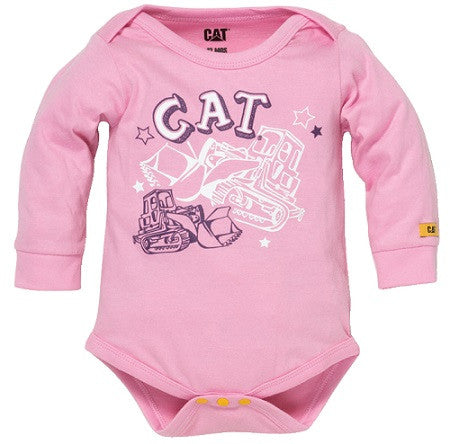 CAT Pink Childs Onesie