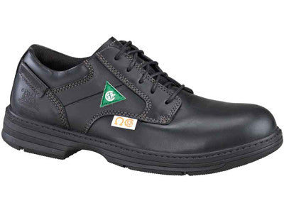 Oversee Black Leather Steel Toe Shoe (713833)