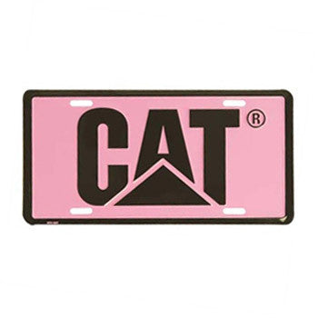 Pink and Black CAT License Plate