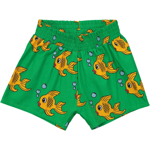 Summer Woven Short - Green Fish