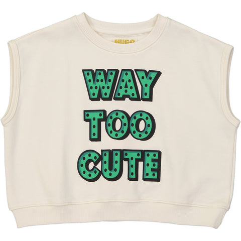Short Sleeve Sweatshirt - Way Too Cute