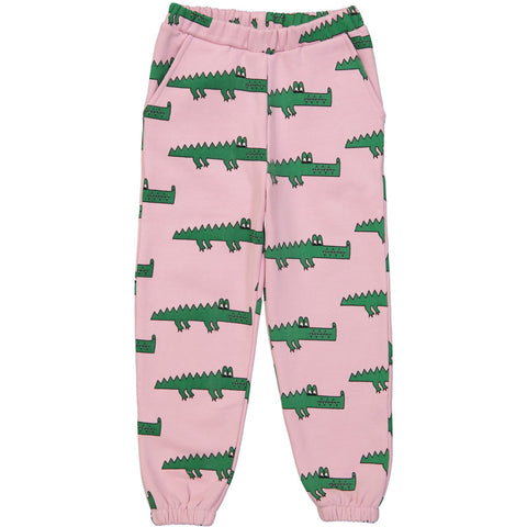 80's Sweat Pants - Pink Crocodile