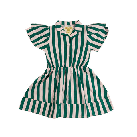 Petal Sleeve Dress - Beverly Hills Stripe