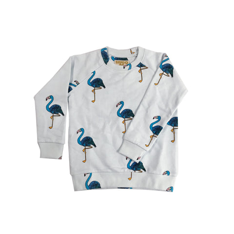 Sweatshirt - Blue Flamingo