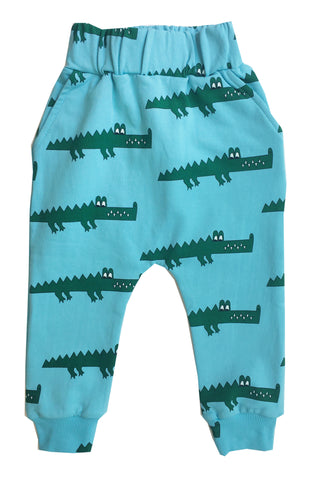 Drop Crotch Sweat Pants - Blue Crocodile