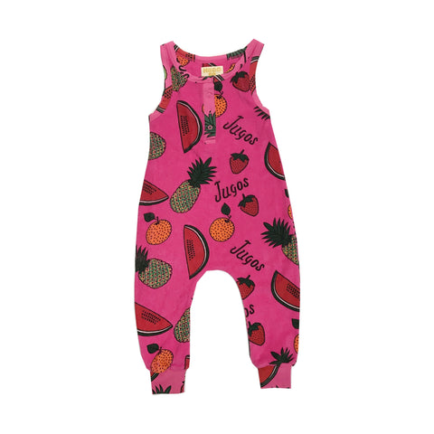 Long Leg Terry Romper - Fruit