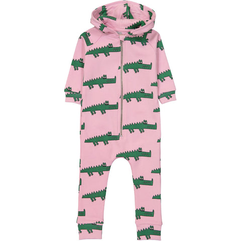 Jumpsuit- Pink Crocodile