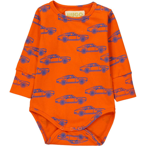 Long Sleeve Onesie- Cars