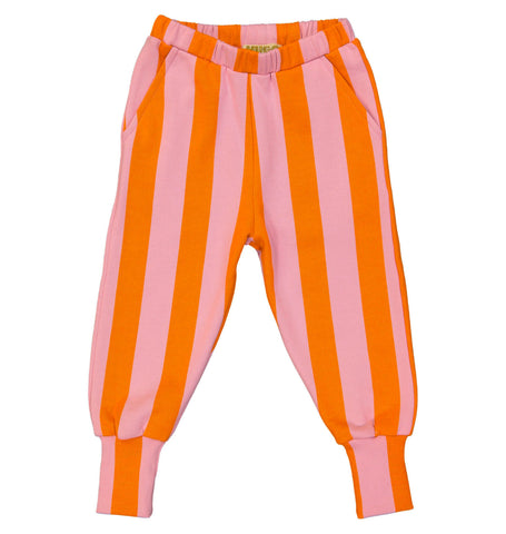 Orange Pink Stripe Sweat Pants