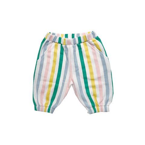 Knee Sweatpants - Pastel Stripes