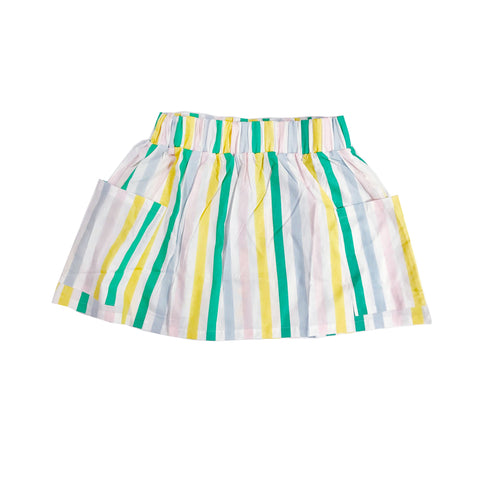 Pocket Skirt - Pastel Stripes