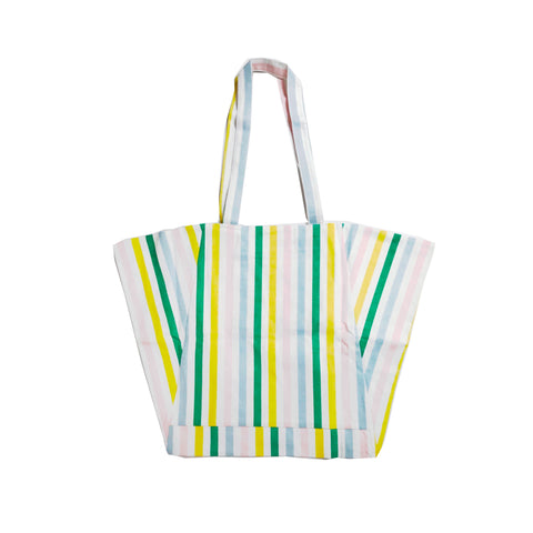 Beach Bag - Pastel Stripe