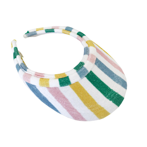 Terry Visor - Pastel Stripe
