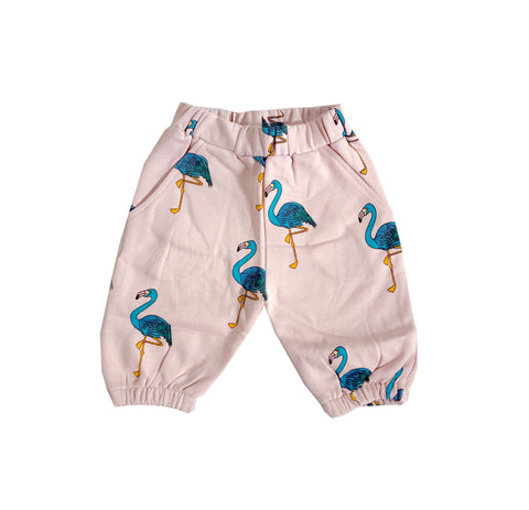 Knee Sweatpants - Pink flamingos