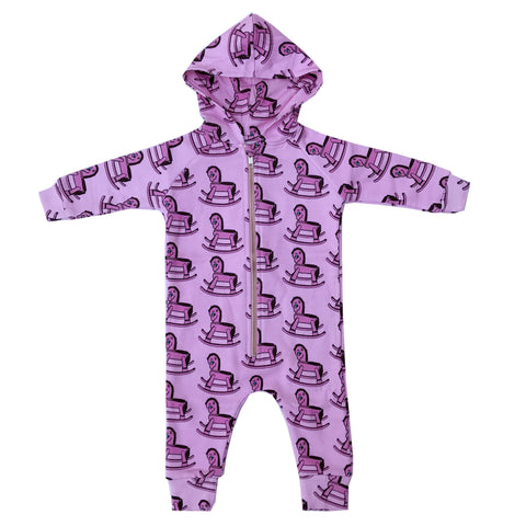 Purple Rocking Horse Jumpsuit