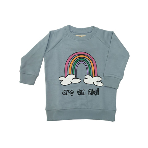 Sweatshirt - Blue Rainbow Chest