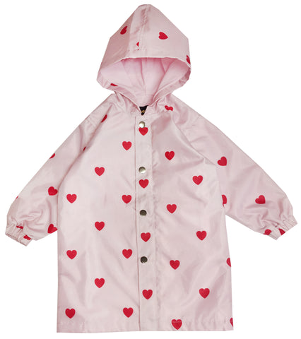 Raincoat - KIP AND CO Red Hearts