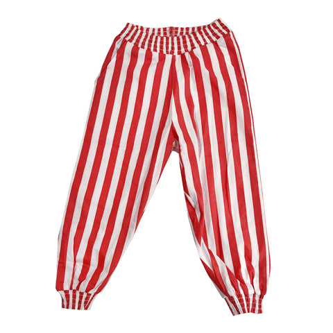Bubble Pants - Red/White Stripe