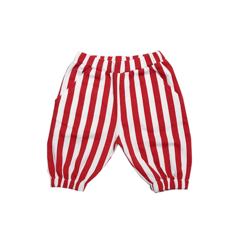Knee Sweatpants - Red/White Stripes