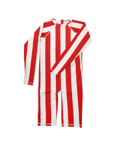Rash Guard - Red/White Stripe