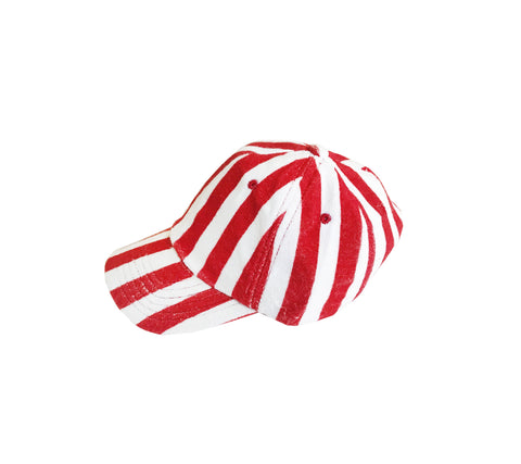 Terry Hat - Red Stripes