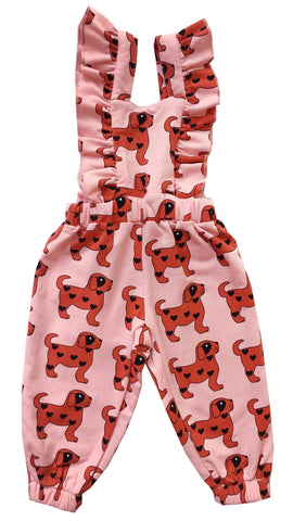 Ruffled Jumpsuit - Red Dogs