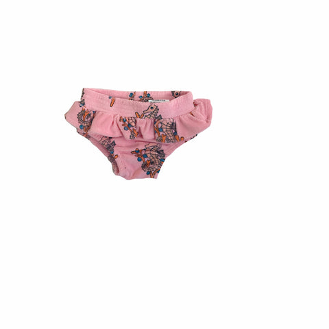 Terry Ruffled Bloomers - Pink Seahorse