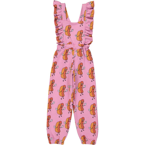 Ruffled Jumpsuit - Hot Dogs