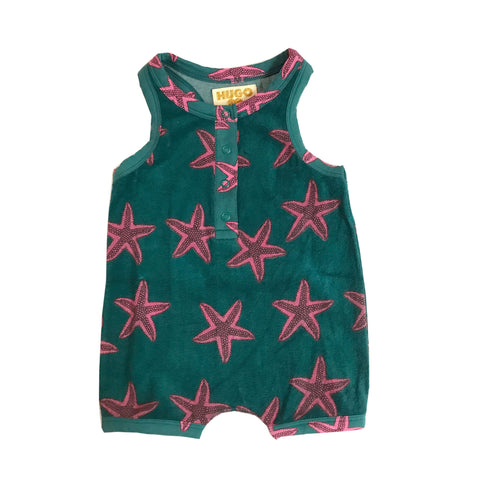 Short Leg Terry Romper - Starfish
