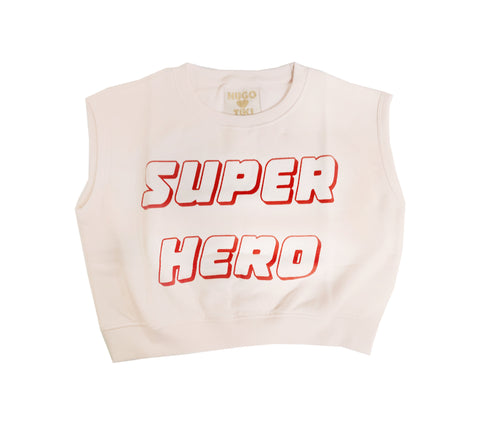 Short Sleeve Sweater - Super Hero