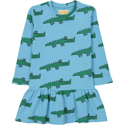 Sweater Dress - Blue Crocodile