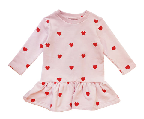 Sweater Dress - KIP AND CO Red Hearts