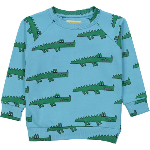 Sweatshirt- Blue Crocodile