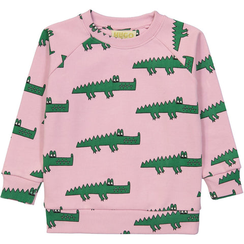Sweatshirt- Pink Crocodile