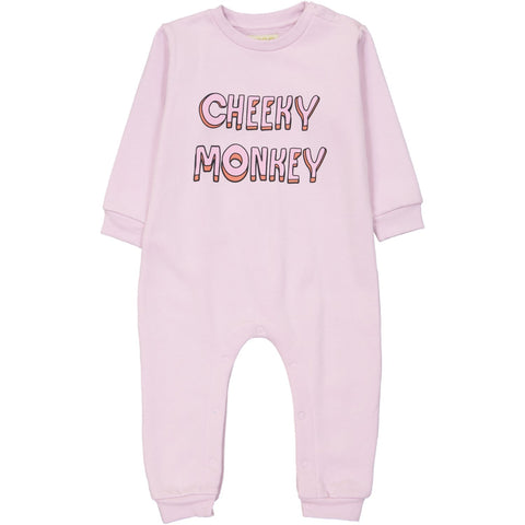 Sweat Shirt Romper - Cheeky Monkey Chest