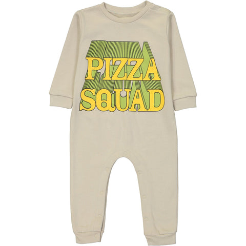 Sweat Shirt Romper - Pizza Squad