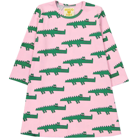 Swing Dress - Pink Crocodile