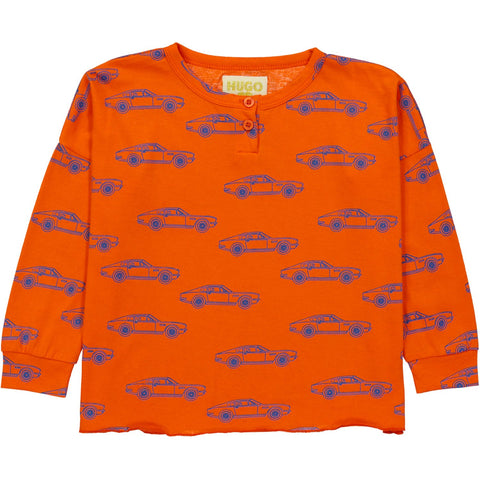Henley Wide Tee - Cars