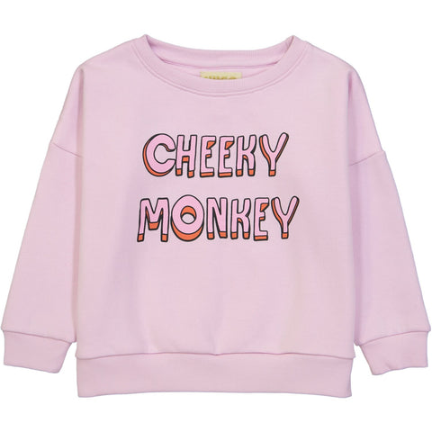 Wide Sweatshirt- Cheeky Monkey