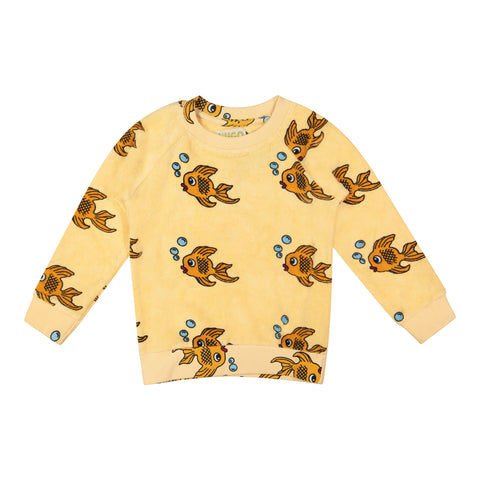 Terry Sweatshirt - Yellow Fish
