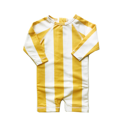 Rash Guard- Yellow Stripe