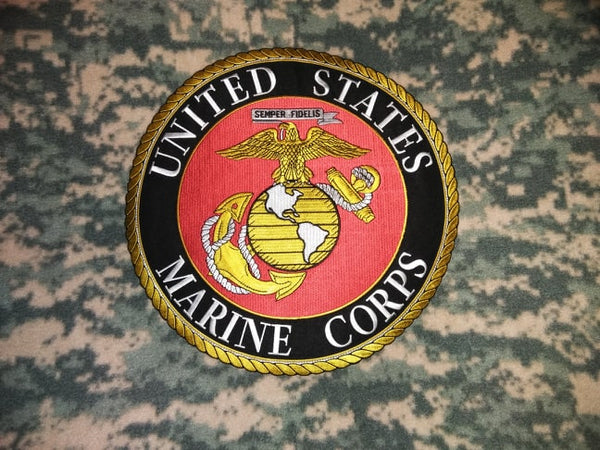 "MARINE BLANKET 60"" x 80"" POLAR FLEECE CAMO W / PATCH-USMC LOGO (""12 )"