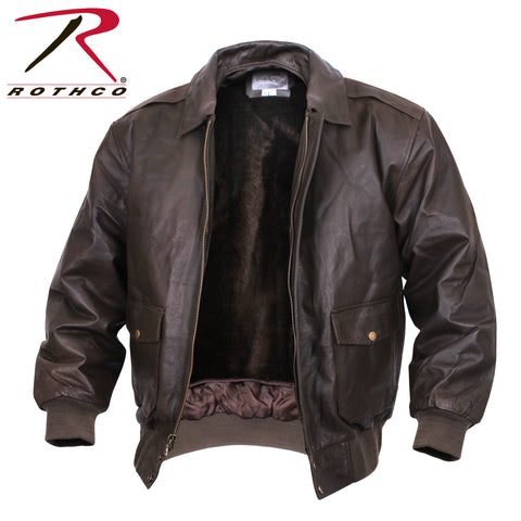 7577 A2 LEATHER FLIGHT JACKET - BROWN-Sgt. Mark's Depot Store
