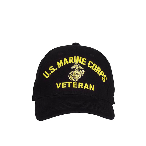 9266 U.S. MARINE CORPS VETERAN HAT/WITH GOLD EMBROIDERED INSIGNIA AND LETTERING