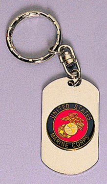 4783 ROTHCO DOG TAG KEY CHAIN / MARINES - SILVER