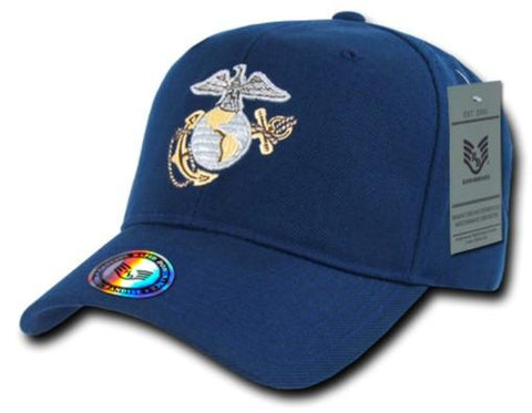 S013 - Snapback Metallic Embroidery DARK BLUE CAP RAPID - Sgt. Mark's Depot Store