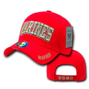 MARINES Text S001 - Red CAP RAPDOM - Sgt. Mark's Depot Store