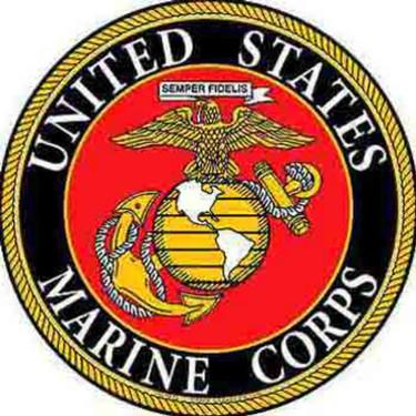 SG9001 (S068) SIGN-USMC LOGO (ROUND) (12)EEI-Aluminum Signs-Sgt. Mark's Depot Store- Aluminium Signs and Wall Decor