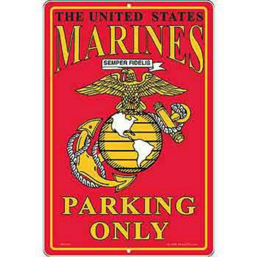 SG9110 (S072) SIGN-USMC,PARKING ONLY,II (XLG) (12X18)EEI - Sgt. Mark's Depot Store